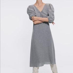Zara Wool Midi Dress NWT